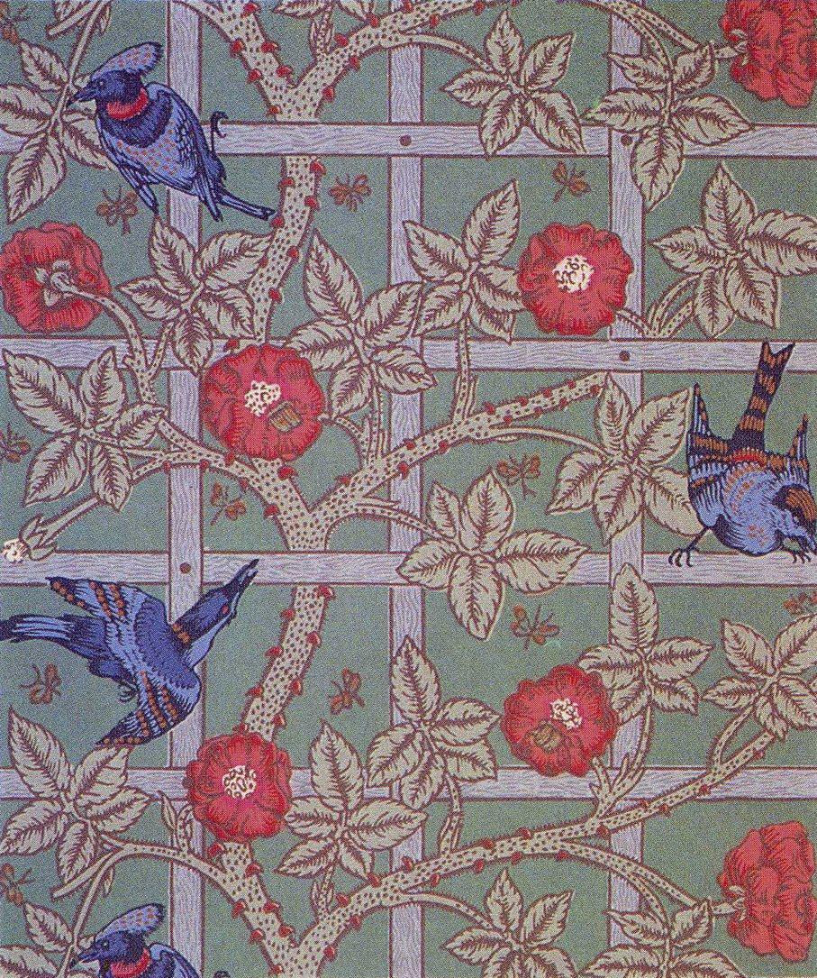 William Morris Trellis: William Morris-morris&co-1864-trellis 6